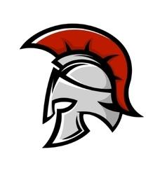 Spartan warrior helmet Sports team emblem vector image vector image
