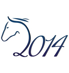 Year of horse vector image vector image