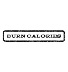 Burn calories watermark stamp vector