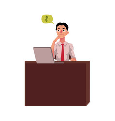 businessman manager financial analyst at office vector image