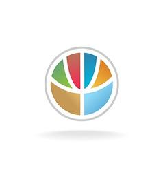 Globe flower logo vector image