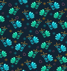 Royal Floral Birds Seamless Pattern vector image vector image