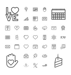 37 day icons vector image