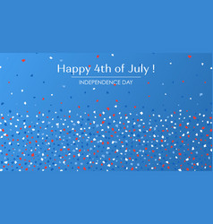 4th july festive greeting card with text vector image