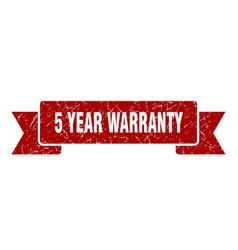 5 year warranty vector
