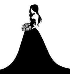 A beautiful bride vector