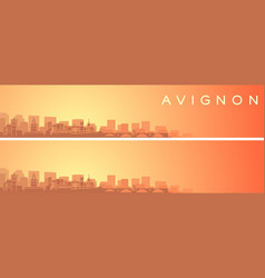 Avignon beautiful skyline scenery banner vector