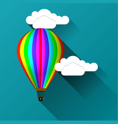 Balloon against the background of clouds vector