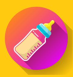 bamilk bottle icon babottle flat vector image