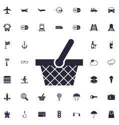 Bascket icon vector