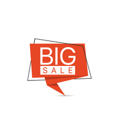 big sale red paper label vector image