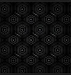 black abstract tech geometric modern seamless vector image