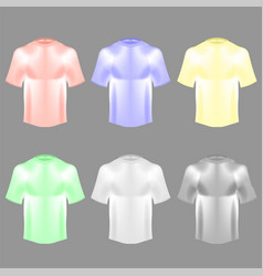 Blank colorful cotton t shirt vector
