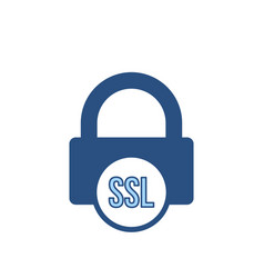 Blocked lock office ssl icon vector