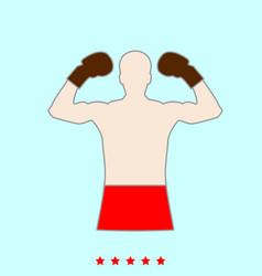 boxer set it is color icon vector image