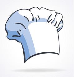 cartoon chefs hat toque blanche vector image