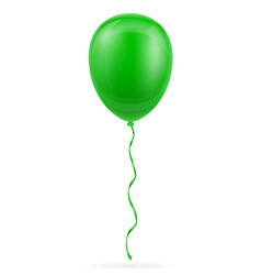 celebratory green balloon pumped helium with vector image