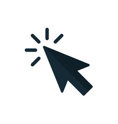 click icon pointer arrow vector image