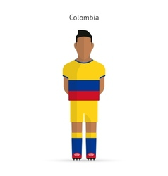 Colombia football player Soccer uniform vector