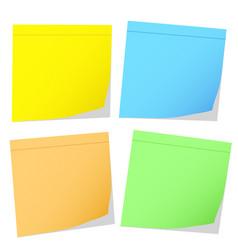 Color memo stikers on white stock vector