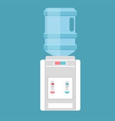 desktop water cooler in flat vector image