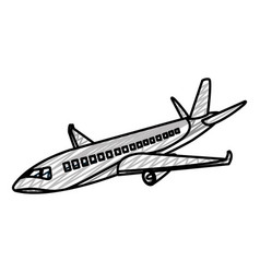 Doodle travel airplane fight international vector