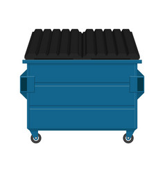 Dumpster isolated on white background vector