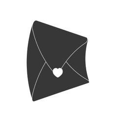 Email message envelope love heart pictogram vector