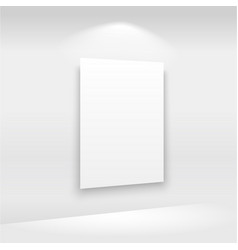 empty frames on the wall in gallery with lights vector image