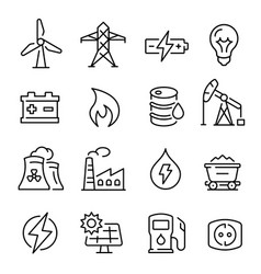 energy line art icon technology and electricity vector image