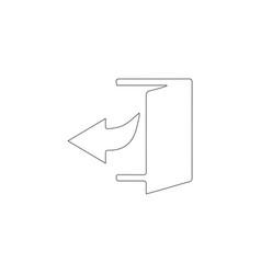 Enter door flat icon vector