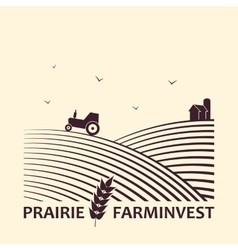 Farm investment business logo vector image