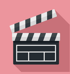 Film clapper icon flat style vector