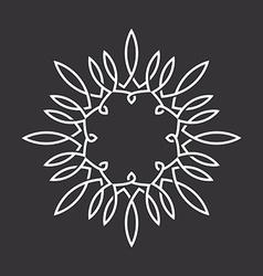 Floral monogram design logo frame of the ornament vector image