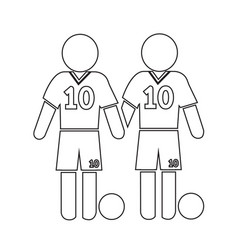 football soccer player icon design vector image