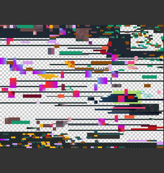 Glitch noise texture isolated glitched vector