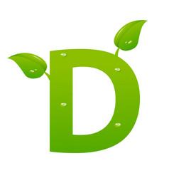 green eco letter d illiustration vector image