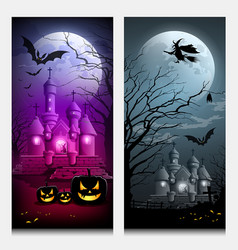 Happy halloween collections banner vector