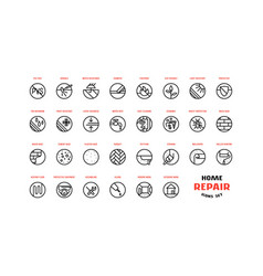 home repair and building icons set vector image