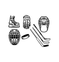 ice hockey equipment pack vector image
