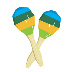 Isolated pair of maracas vector