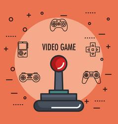 joystick gamepad icon video game controller symbol vector image