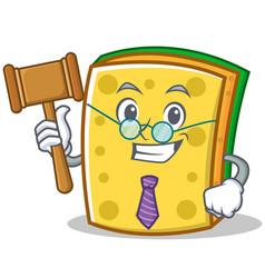 Judge sponge cartoon character funny vector