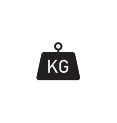 kilogram icon flat style isolated on white vector image