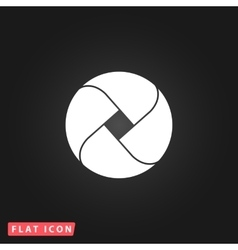 Loop flat icon vector