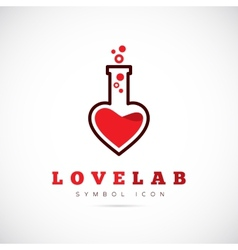 Love Laboratory Abstract Concept Symbol Icon or vector