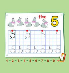 Mathematical education for little children learn vector