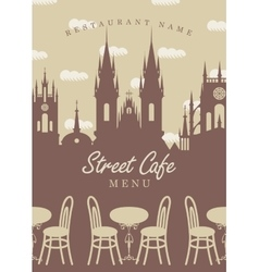 Menu for street cafe vector