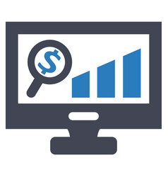 monitoring report growth sales icon vector image