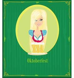 Oktoberfest waitress vector